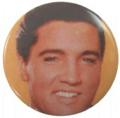 Elvis Presley - 'Close Up Orange' Button Badge